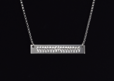 Heartbeat Bar Necklace