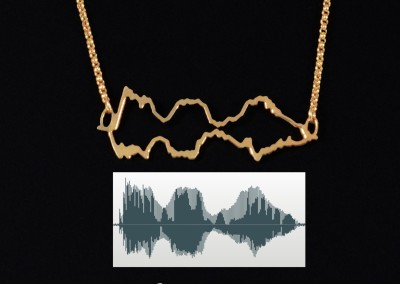Original Voice Soundwave Necklace